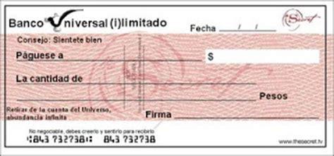 imagenes de cheques en blanco para imprimir cheque de la abundancia atrae riqueza y prosperidad para