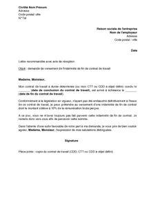 Fin De Lettre Entreprise Exemple Gratuit De Lettre Demande Versement Indemnit 233 Fin Contrat Travail 10 Cdd Ctt Et Cdd