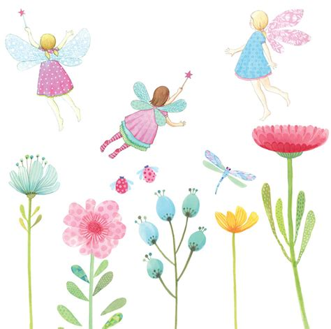 Fairy Garden Fabric Wall Decals By Love Mae Garden Wall Decals