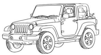 jeep wrangler road coloring page road car car
