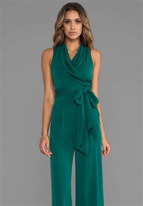 Jumpsuit Jamsuit Marion catherine malandrino marion favorites jumpsuit in green in green lyst