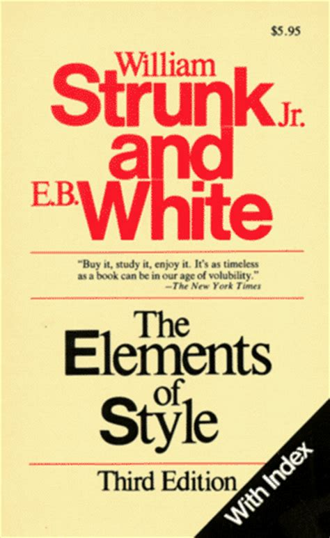 strunk the elements of style 2011 editing 187 nine kinds of pie