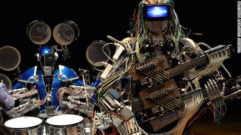 robots music meet the robot guitarist with 78 fingers and 22 arms cnn com