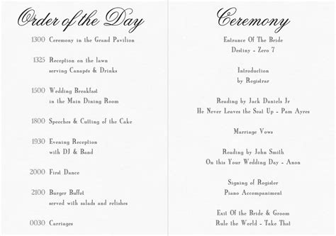christian wedding order of service template best photos of vow renewal ceremony order of service