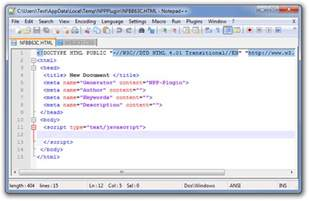 create custom file templates for programming in notepad