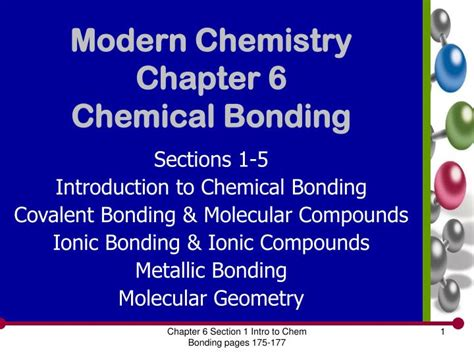 Ppt Modern Chemistry Chapter 6 Chemical Bonding
