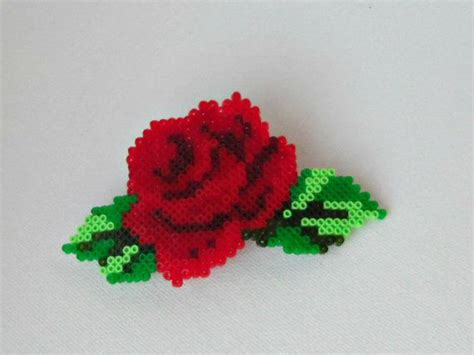 bead of roses hama mini flower barrette hair clip by
