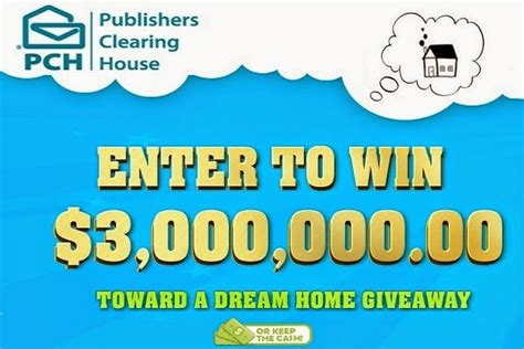 Dream House Sweepstakes - 3 million dream home pch autos post