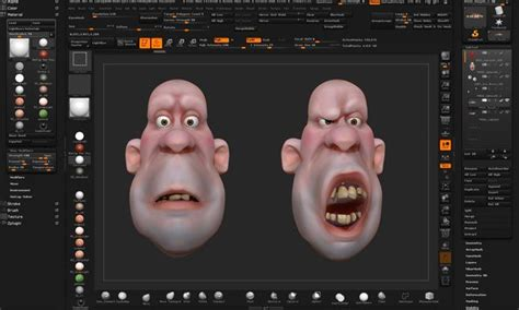 Zbrush Layers Tutorial | creating facial shapes using layers in zbrush