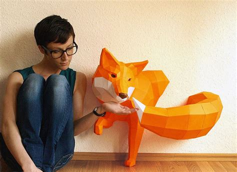 17 beautiful polygonal animal paper sculptures by wolfram