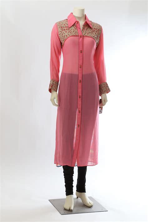 kurta collar pattern pink long kurti collar neck