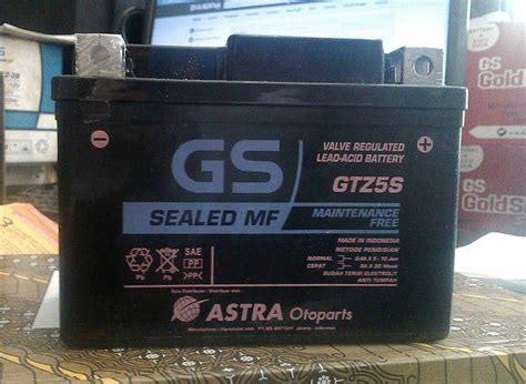 jual aki gs astra kering gtz5s mf untuk segala jenis motor ledeng motor bandung