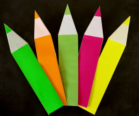 How To Make Origami Pencil - file origami pencil completed jpg wikimedia commons