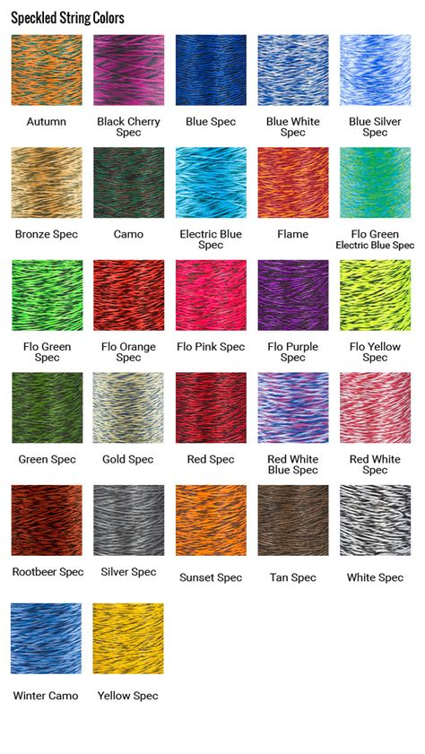 bow string colors proline bowstrings 4 color custom compound bowstring only