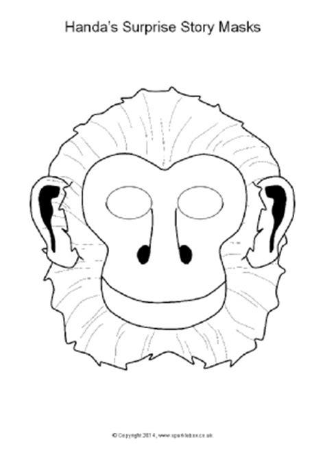printable hyena mask template printable jungle and safari animal masks for kids sparklebox