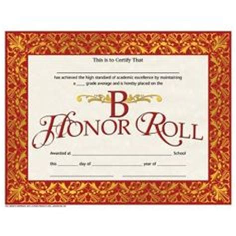 B Honor Roll Certificate Template by 1000 Images About Certificates And Awards On