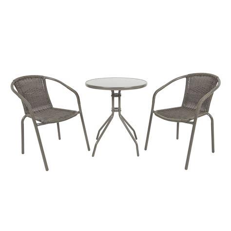 bari metal  seater bistro set departments diy  bq garden bistro set outdoor tables