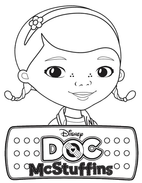 Doc Mcstuffins Coloring Pages Disney Junior by Disney Doc Mcstuffins Coloring Page Dra Juguetes