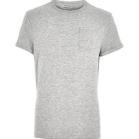 Grey Shir grey marl roll sleeve t shirt plain t shirts t shirts