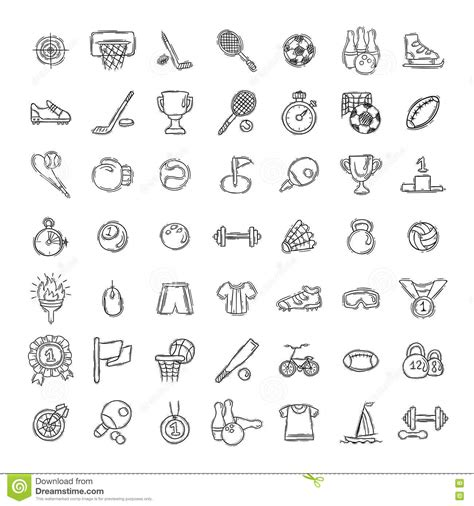 doodle bug website doodle icons set isolated on white background