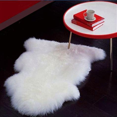 asimetris kain karpet bulu korea fur white putih custom