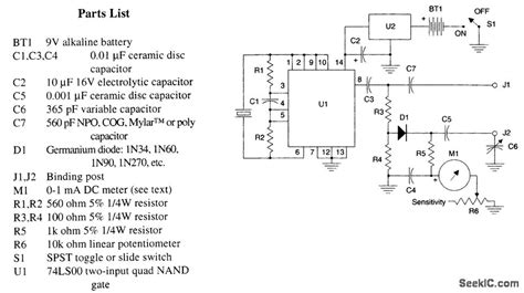 inductance tester schematic simple inductance meter measuring and test circuit circuit diagram seekic