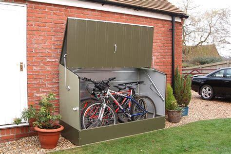 secure bike shed ideas    globe