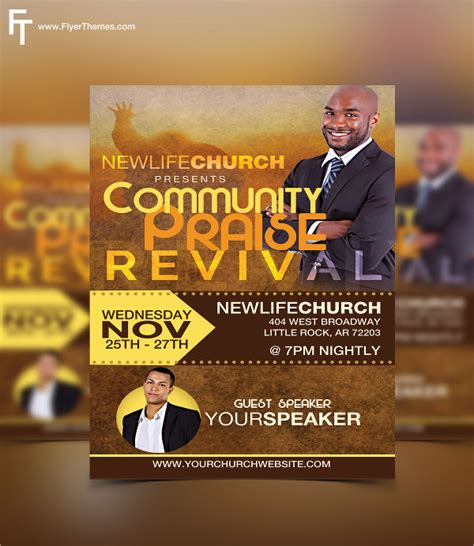 free church revival flyer template church anniversary flyer templates just b cause