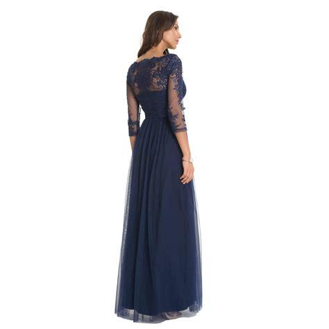 Zaskia Maxy chi chi saskia maxi dress navy l born2style fashion store