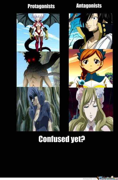 Funny Fairy Tail Memes - fairy tail soul eater pics protagonist antagonist
