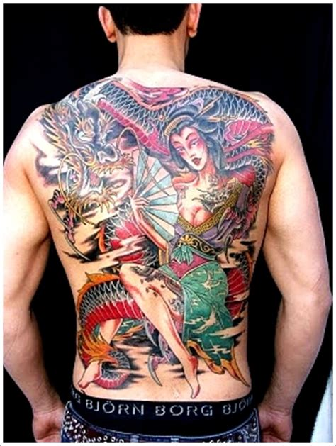 back geisha tattoo design for men geisha tattoo meaning