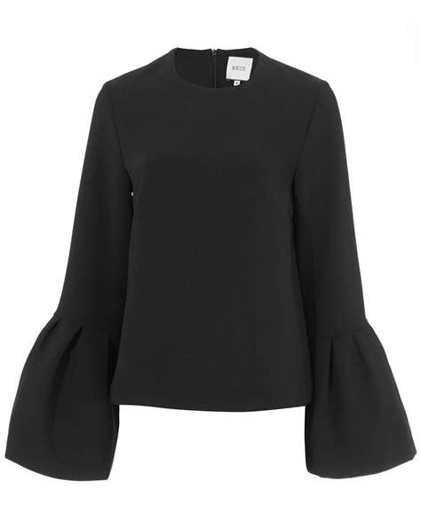 flared sleeves top edit black flared sleeve top in black lyst