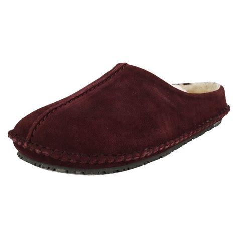 clarks slippers mens mens clarks mule slippers kite nordic ebay