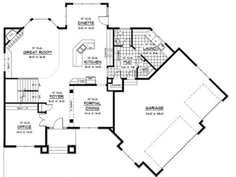 house plans angled garage plan 14410rk prairie style house plan with angled garage