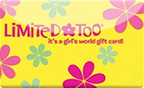 Limited Too Gift Card - buy limited too justice gift cards raise