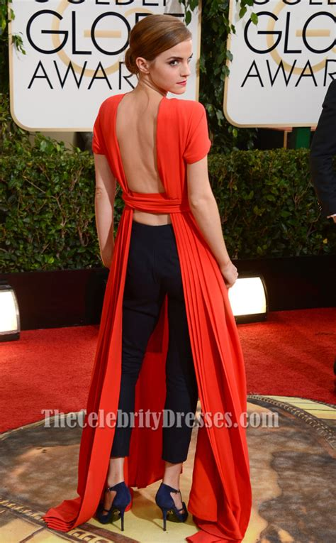 emma watson red dress emma watson red backless prom dress 2014 golden globe