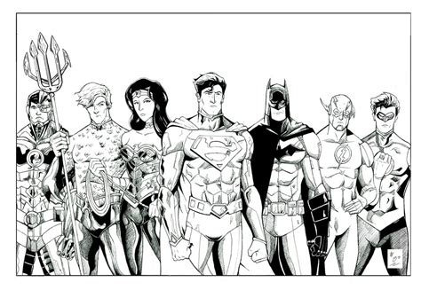justice league new 52 inks by wburton19 on deviantart