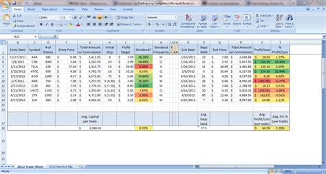 trading spreadsheet template options trading excel template ibonosotax web fc2