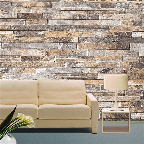 Living Room Wallpaper 3d Background by 3d Wall Paper Brick Pattern Vinyl Wallpaper Roll