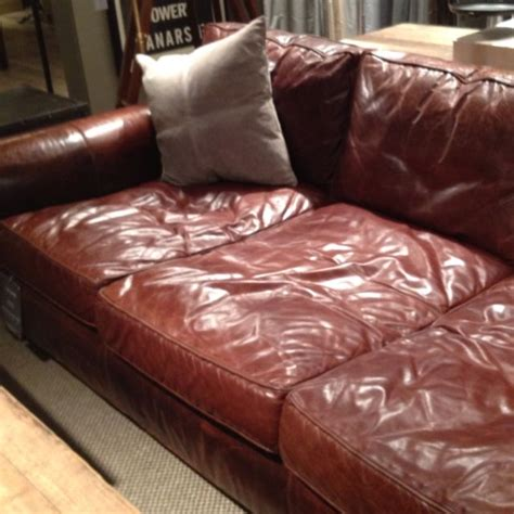 extra deep sofa leather extra deep leather couch heart restoration hardware