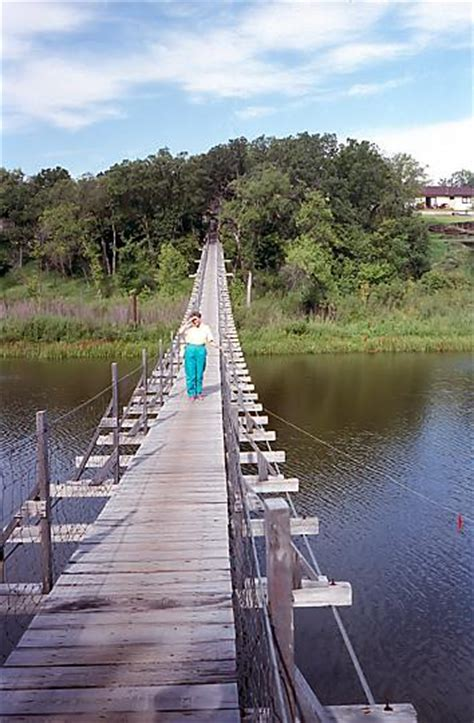 souris swinging bridge our home page manitoba 350 souris swinging bridge