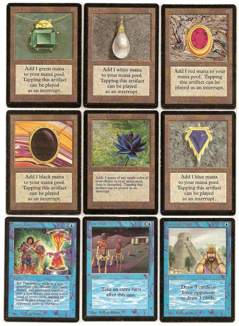 the power of the school magic telling the power nine story through the cards that come since