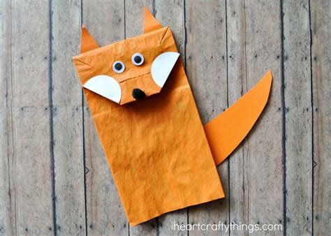 Paper Bag Craft Ideas For - paper bag fox craft for i crafty things