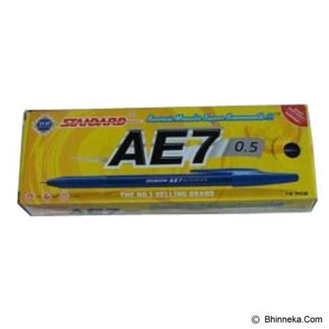 Pulpen Standard Ae7 Alfa Tip 0 5 Hitam 1 jual standard ballpoint 0 5 ae7 blue murah bhinneka