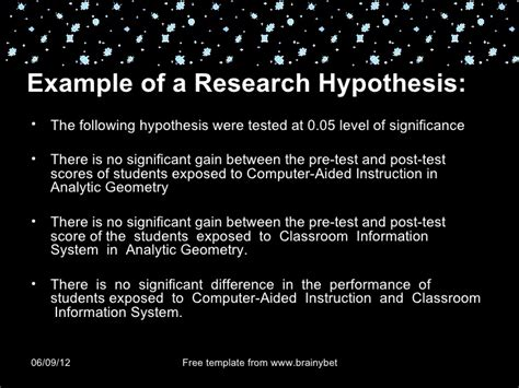 hypothesis exle for research paper chapter 4 research hypothesis and defining variables