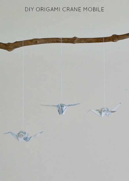 Diy Origami Crane - diy origami crane mobile aka finding a use for one of the