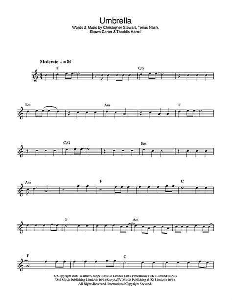 umbrella strumming pattern umbrella feat jay z sheet music by rihanna flute 43999