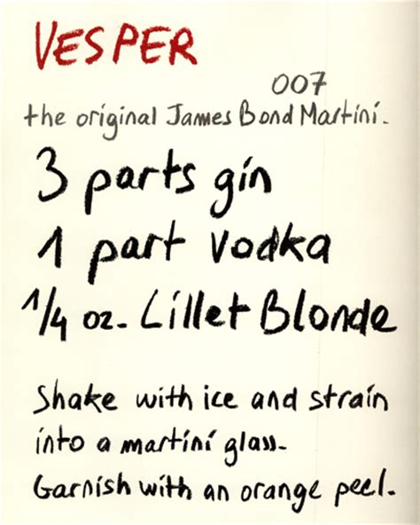 vesper martini quote the orig james bond cocktail may come in handy for a