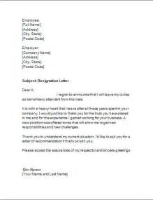 Microsoft Word Resignation Letter Template by Letter Of Resignation For Beneficiary Attendant Resignation Letter
