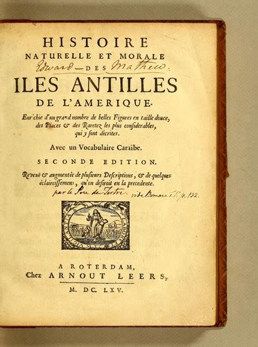1362847631 histoire naturelle et moralle des histoire naturelle et morale des iles antilles de l